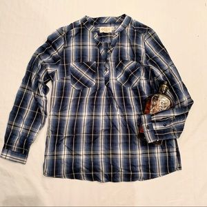 NWOT weatherproof Plaid tunic style shirt